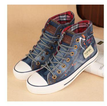 รองเท้าผ้าใบผู้หญิง รองเท้าผ้าใบ เก๋ ๆ สไตล์ วินเทจ รองเท้าหุ้มส้น ดีไซน์ ยีนส์ แบบ เท่ ๆ ลุย ๆ สำหรับ สาว นักท่องเที่ยง แนว คาวบอย เซอร์ ๆ สวยค่ะ 535221