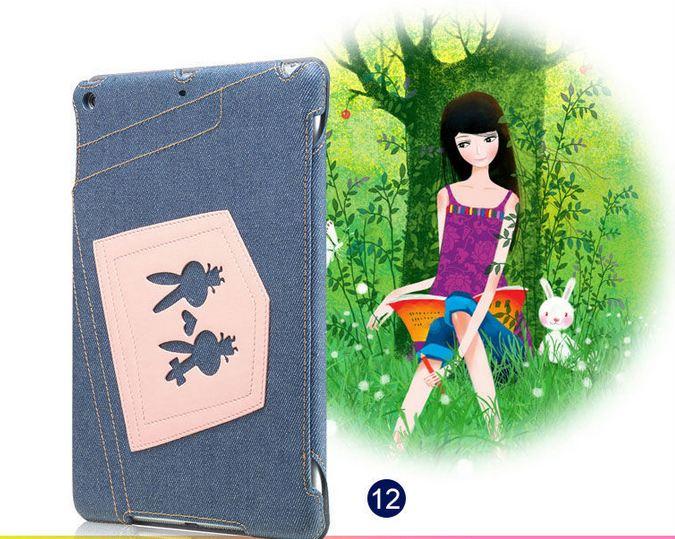 เคส iPad air 1 เคสยีนส์ แต่งลาย กระต่ายน้อย สีชมพู ดีไซน์ จากประเทศ อังกฤษ เคสแบบสวย ๆ จาก London เคสเปิดปิด อัตโนมัติ 396281_11