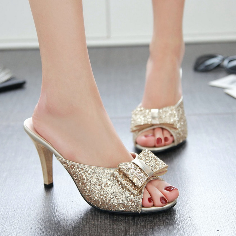 รองเท้าคัทชู รองเท้าแฟชั่นสตรี High-heeled shoes women sandals