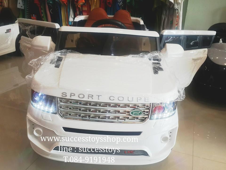 รถแบตเตอรี่เด็กนั่งไฟฟ้าLN5891 ยี่ห้อ LAND ROVER เบาะหนัง 2m สีขาว