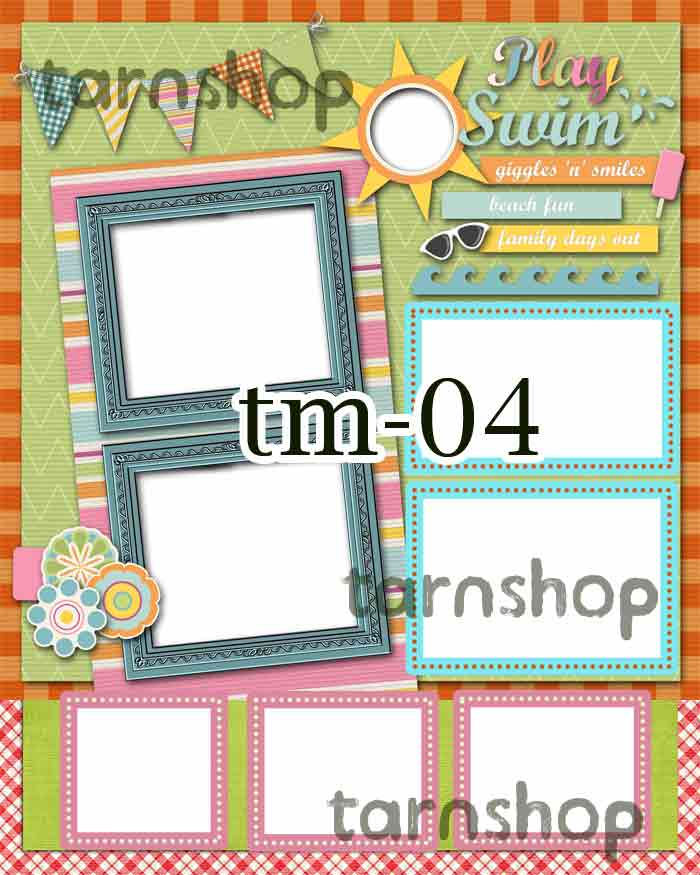 Template photo mix ขนาด 8x10 รหัส tM-04