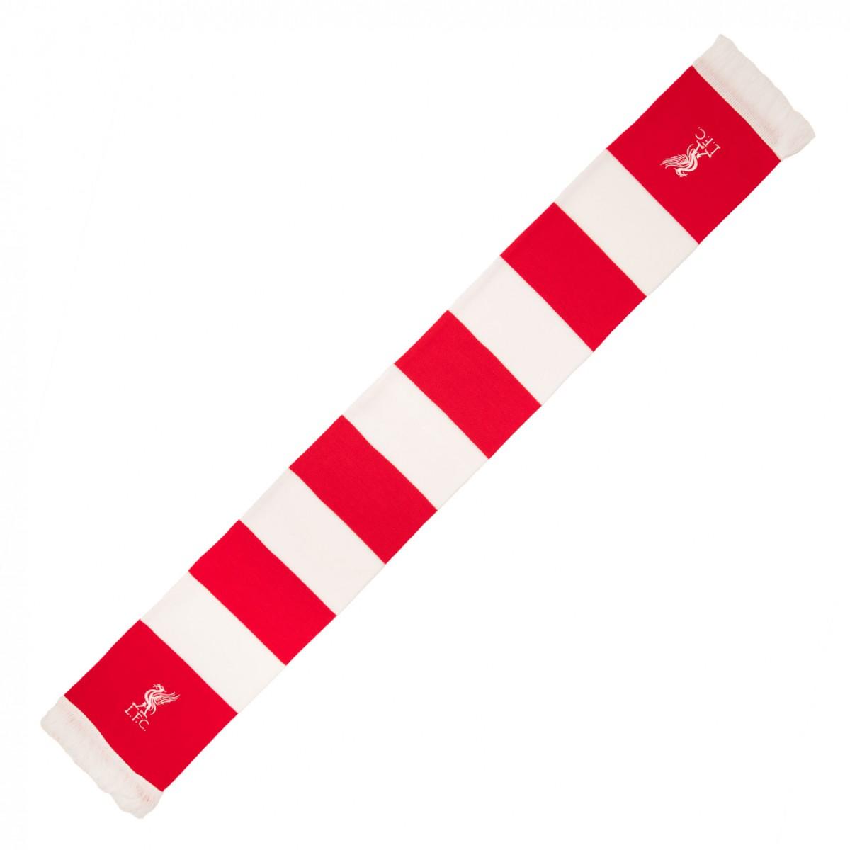 ผ้าพันคอลิเวอร์พูล Red & White Bar Scarf ของแท้