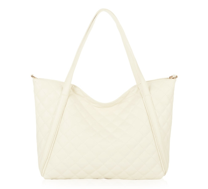 [ ลดราคา ] - กระเป๋าแฟชั่นนำเข้า สไตล์เกาหลี สีครีมมุก สุดหรู ทรง Shopping Bag ใบใหญ่มากๆ ดีไซน์แบรนด์ดัง งานหนังดี หรูดูดีไม่ซ้ำใคร