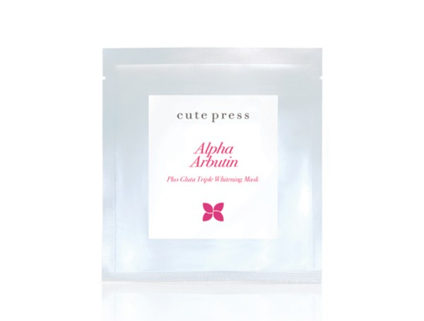 *พร้อมส่ง* Cute Press Alpha Arbutin plus Gluta Triple Whitening Mask มาส์กแผ่น อัลฟ่าอาร์บูติน พลัส กลูต้า ทริปเปิ้ล ไวท์ กระจ่างใสรู้สึกได้ทันทีหลังใช้