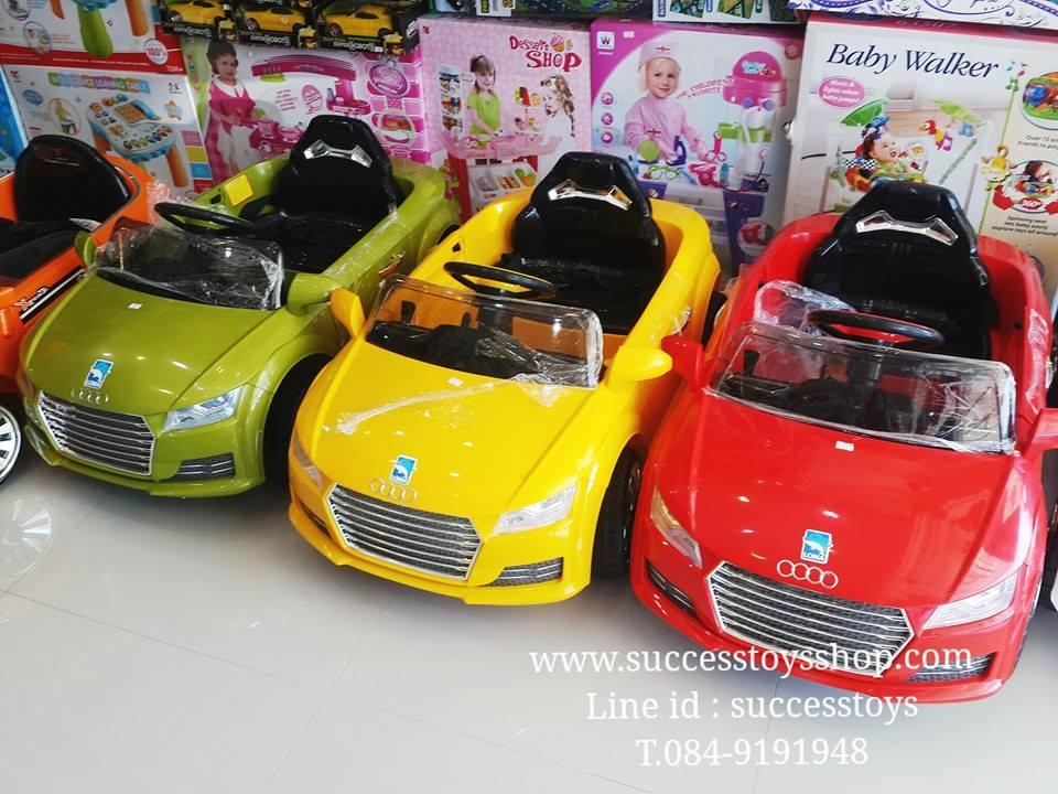 รถแบตเตอรี่เด็กนั่งไฟฟ้า ยี่ห้อ ออดี้ มี3สี แดง เหลือง เขียว มีแบบ1มอเตอร์และ2มอเตอร์