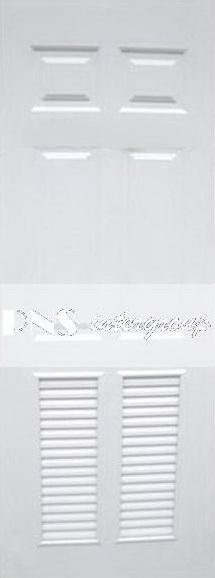 ประตู upvc รุ่น v-series บานเกล็ด PL003 ขนาด 70x200