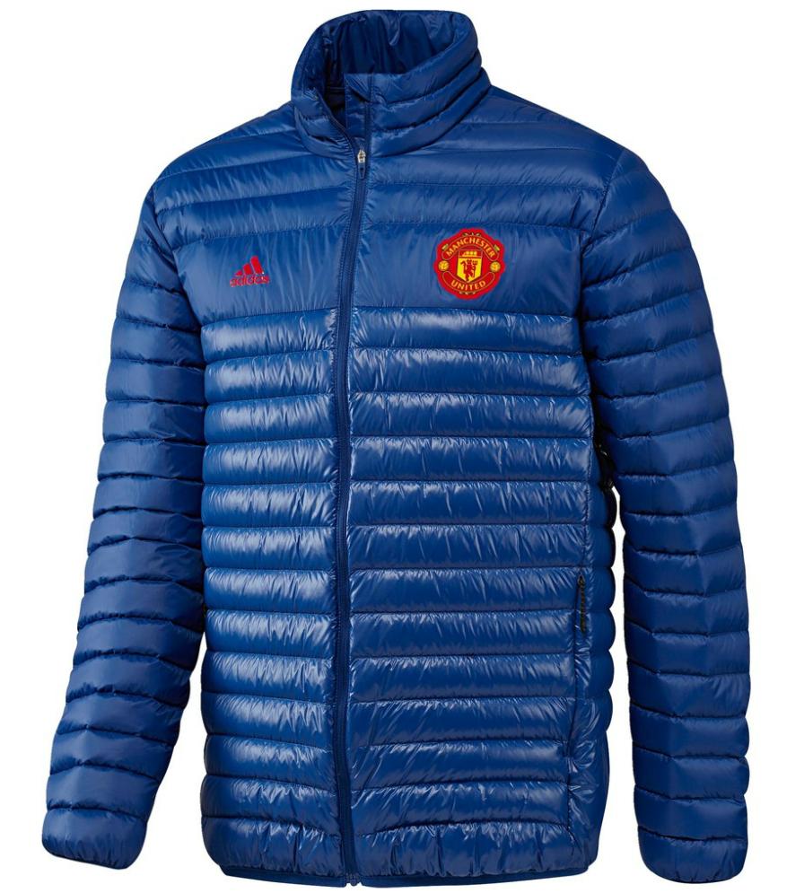 เสื้อแจ็คเก็ตแมนเชสเตอร์ ยูไนเต็ด Light Down Jacket สีน้ำเงินของแท้