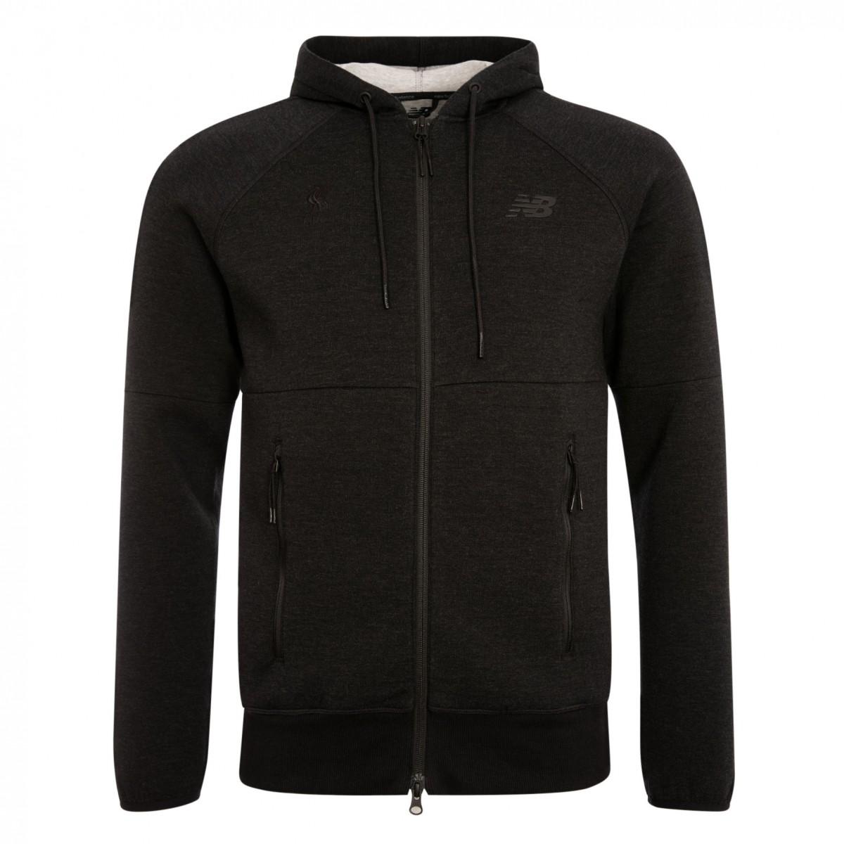 เสื้อฮู้ดนิวบาลานซ์ลิเวอร์พูลของแท้ New Balance Mens Black Sport Style Full Zip