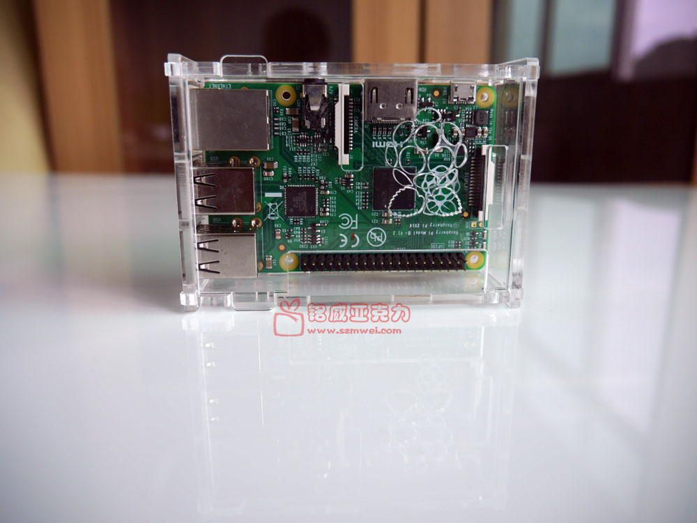 อะครีลิค Box with Logo for Raspberry Pi model B+/ Pi 2 / Pi 3