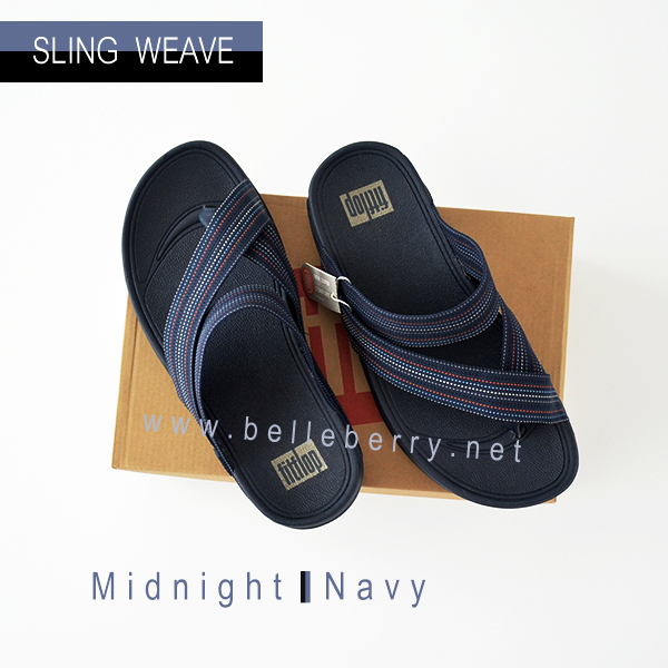 * NEW * FitFlop : SLING WEAVE : Midnight Navy : Size US 10 / EU 43