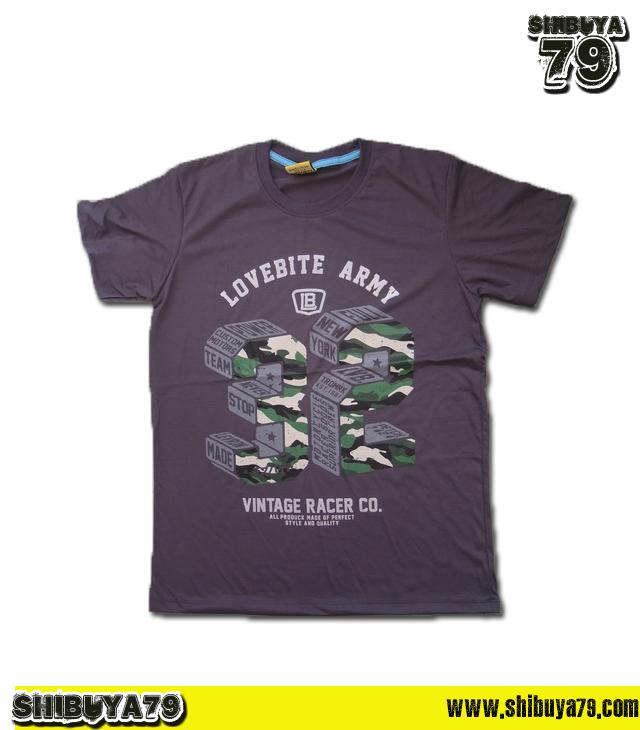 เสื้อยืดชาย Lovebite Size L - Army 32