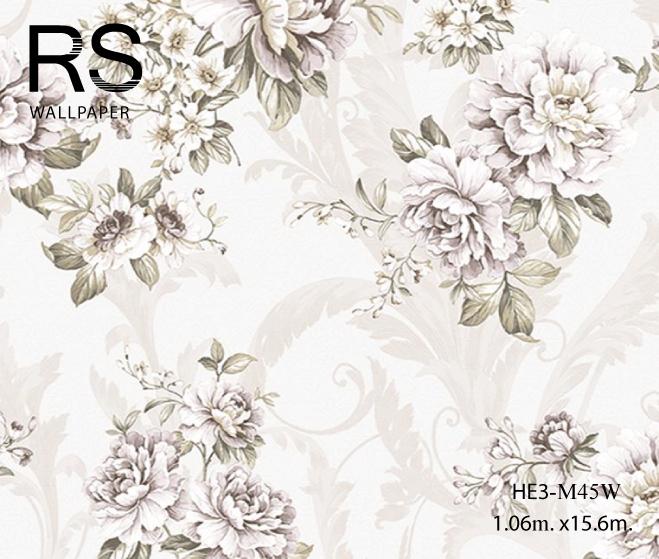 วอลเปเปอร์ลายดอกไม้วินเทจ HE3-M45W