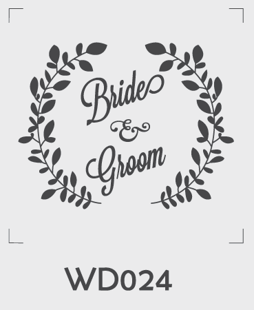 ตราปั๊มงานแต่ง WD024