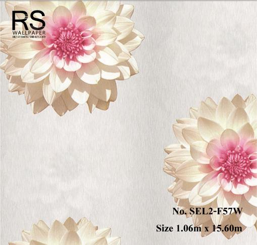 วอลเปเปอร์ลายดอกไม้ SEL2-F57W