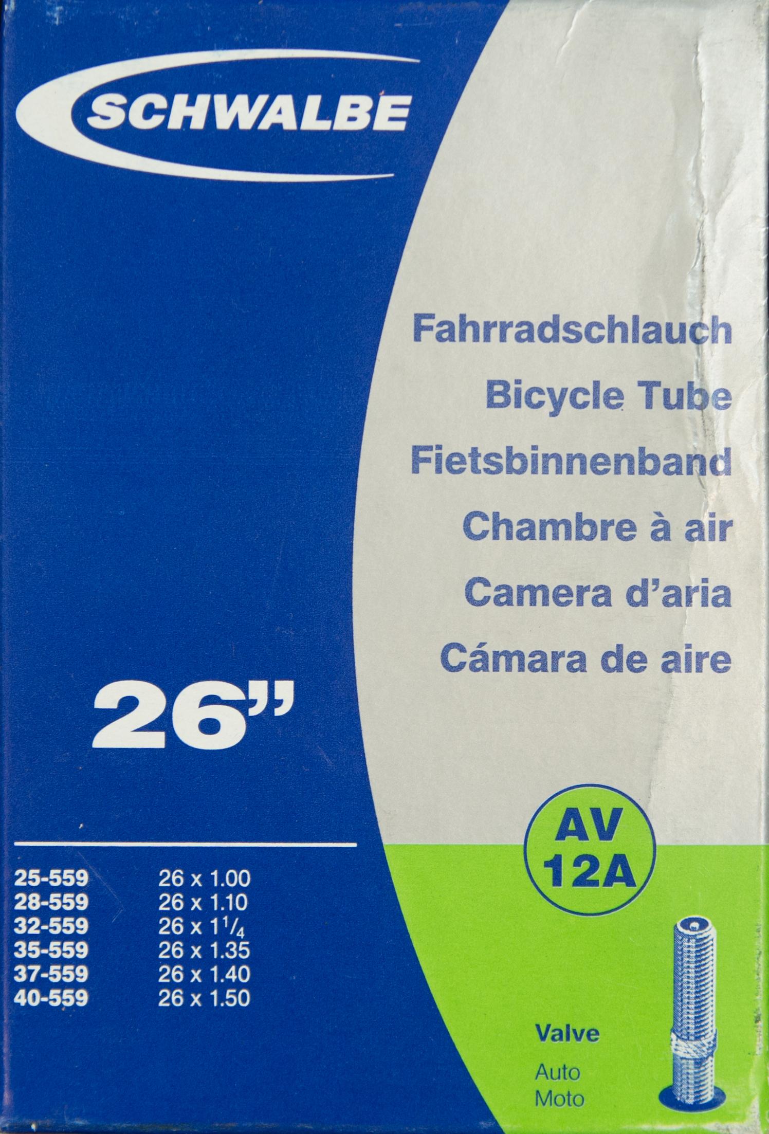 """Schwalbe 26""""x1.0-1.5 AV12A จุ๊บใหญ่"""
