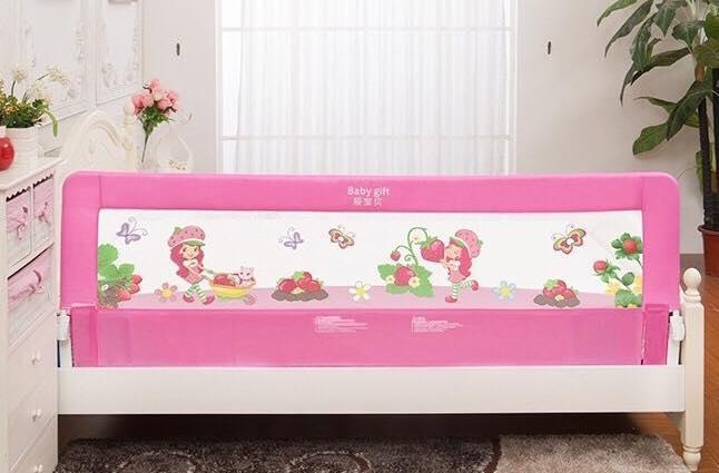 ที่กันเตียงเพื่อความปลอดภัยของลูกน้อย สีชมพู
