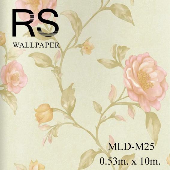 วอลเปเปอร์ลายดอกไม้ MLD-M25