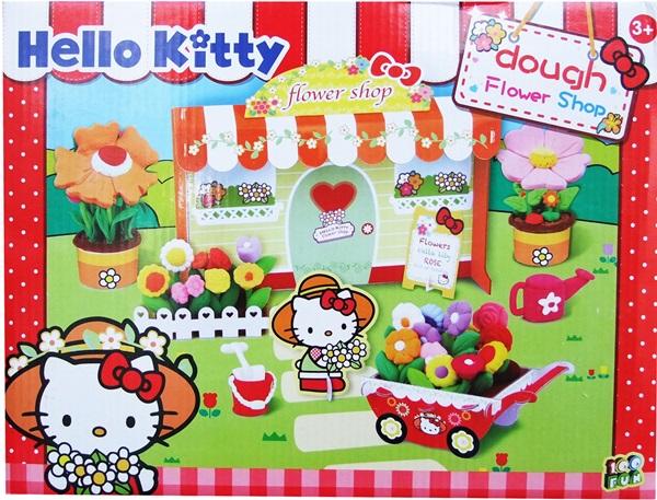 แป้งโดว์ Hello Kitty ชุดร้านขายดอกไม้