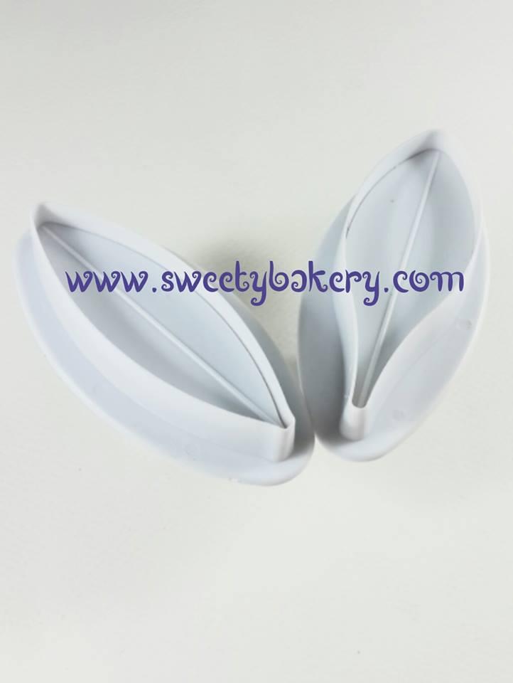 ที่พิมพ์ลายฟองดองท์ พิมพ์กดคุกกี้ รูปดอกลิลลี่ 2 ชิ้น/เซต