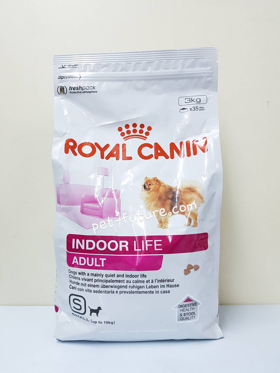Indoor life Adult สุนัขโตขนาดเล็กอาศัยในบ้าน ขนาด 3 kg. Exp.02/18