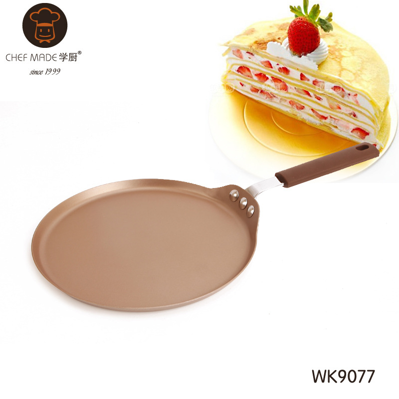 Chef Made กะทะเครปเค้ก เทฟล่อน สีทอง (Nonstick) 23cm.