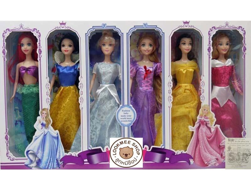 ตุ๊กตาบาร์บี้ เจ้าหญิง Princess เซต 6 ตัว คุ้มมาก...ขายดีมาก!!! ส่งฟรี