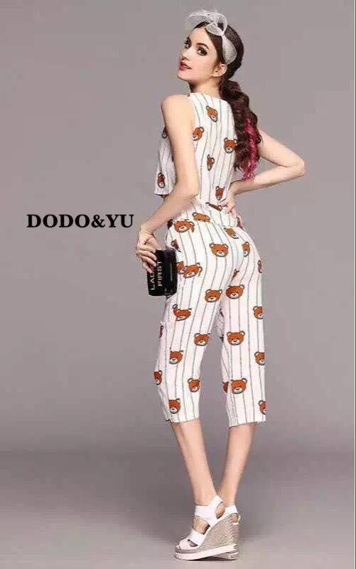 เสื้อผ้าเกาหลี พร้อมส่งเซ็ต TEDDY ผ้าโพลีผสมไหมเกรดพรีเมี่ยม