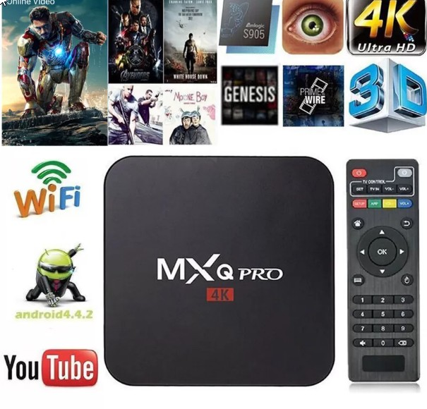 Product details of MXQ Pro Android Box Amlogic S905 Quad Core 64bit 1GB/8GB Android 5.1 ( Black )ฟรีRemote Controlและถ่านAAAพร้อมใช้งาน