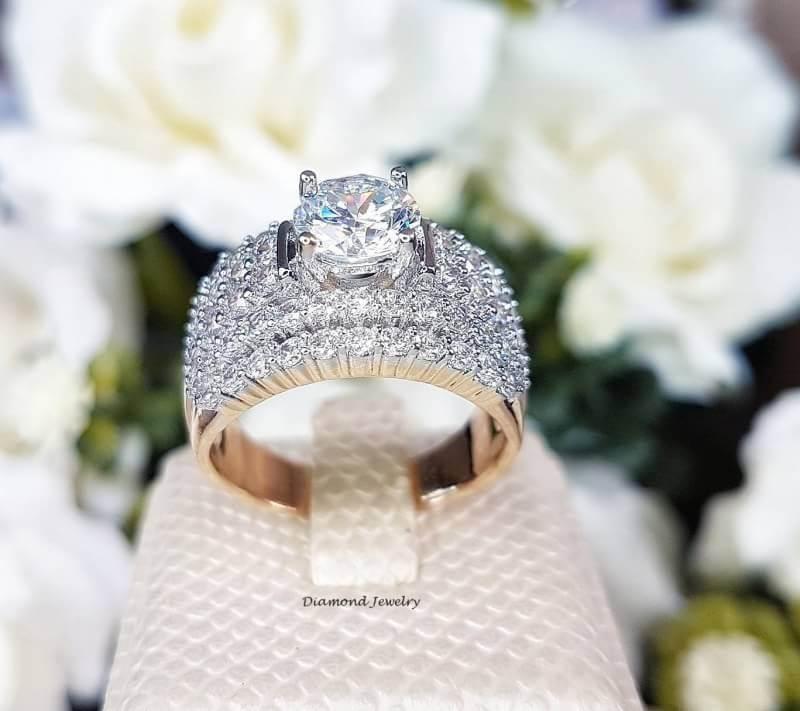 พร้อมส่ง Diamond Ring แหวนเพชรงานเพชร CZ แท้