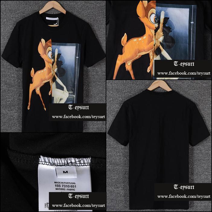 เสื้อยืดGivenchy Bambi Print