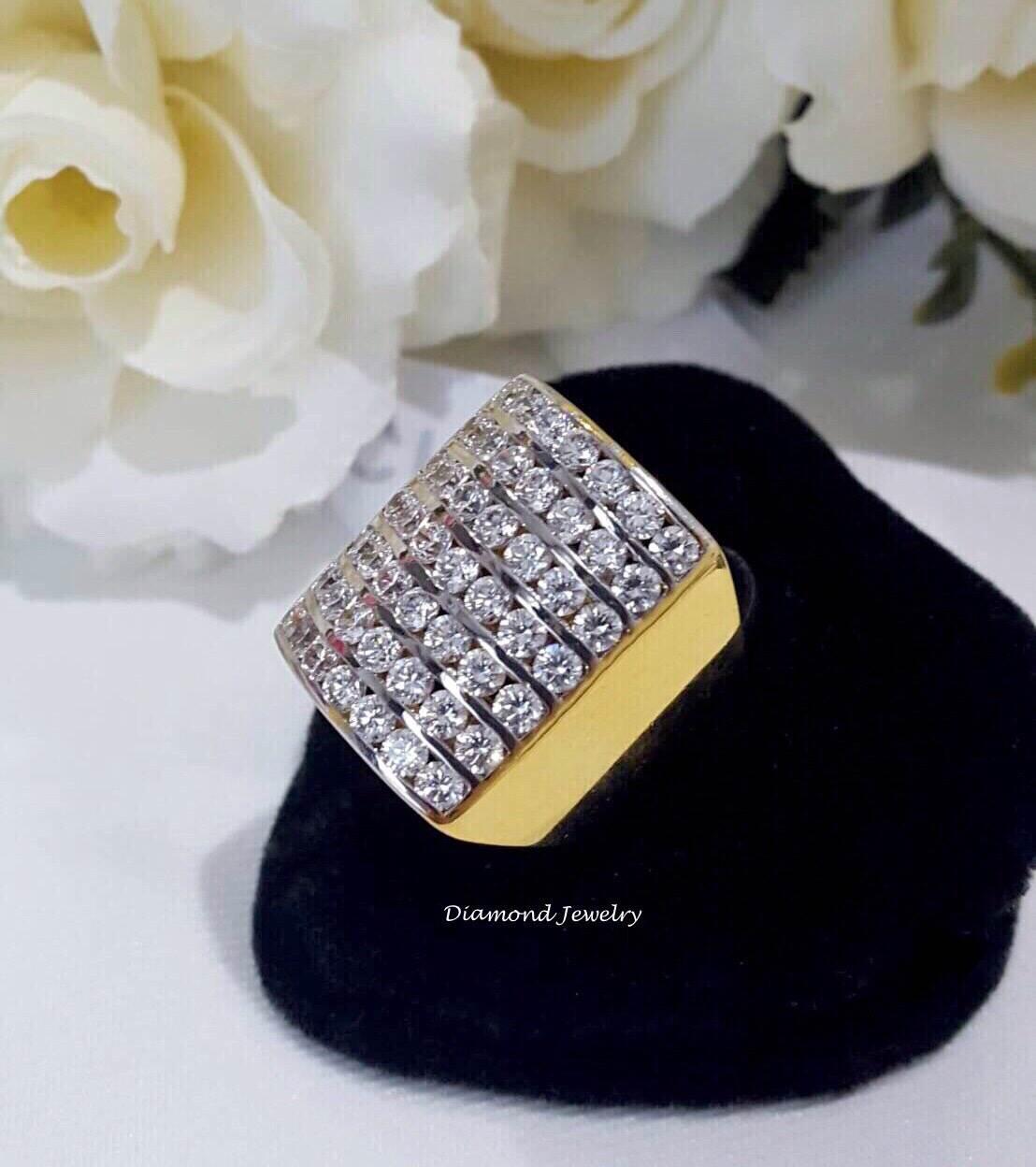 พร้อมส่ง Diamond Ring งานเพชรสวิส เพชร 7 แถวงานชุบ 5 ไมครอน