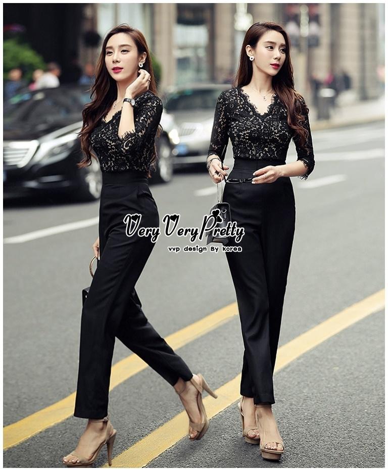 Luxury Jumpsuit Lace Fashion Style Korea