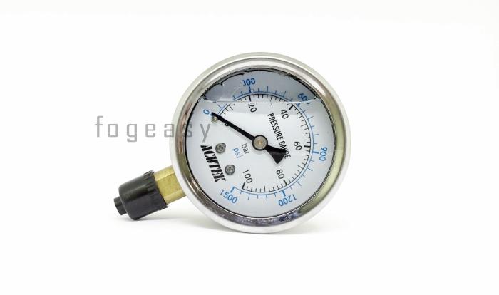 เกจวัดแรงดัน สำหรับปั๊มแรงดันสูง 0-100 bar