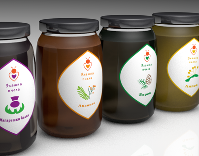ไอเดียสำหรับการพิมพ์ สติ๊กเกอร์ฉลากสินค้า // สไตล์การออกแบบ ดีไซน์แบบเรียบๆ แต่มีสไตล์ ฉลากไว้ใช้สำหรับ แปะกับโหลบรรจุอาหาร,โหลใส่น้ำผึ้ง