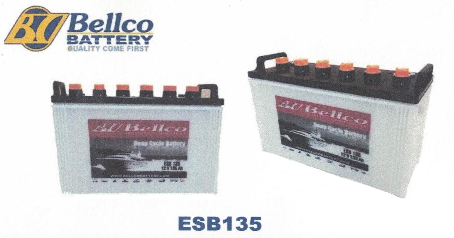 แบตเตอรี่ Deep cycle Bellco 135Ah (ESB135)