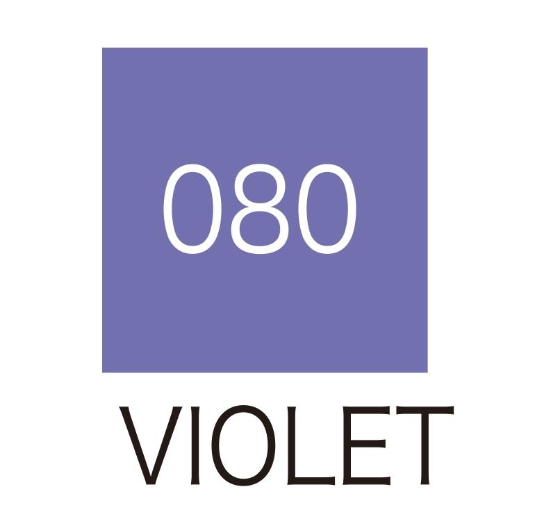 ปากกาสี 2 หัว ZIG CLEAN COLOR No.080 - Violet