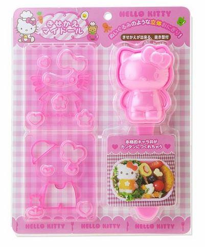 D.I.Y Hello Kitty Bento Set เซ็ตทำข้าวรูปคิตตี้ พร้อมตัวปั๊มสำหรับตกแต่ง