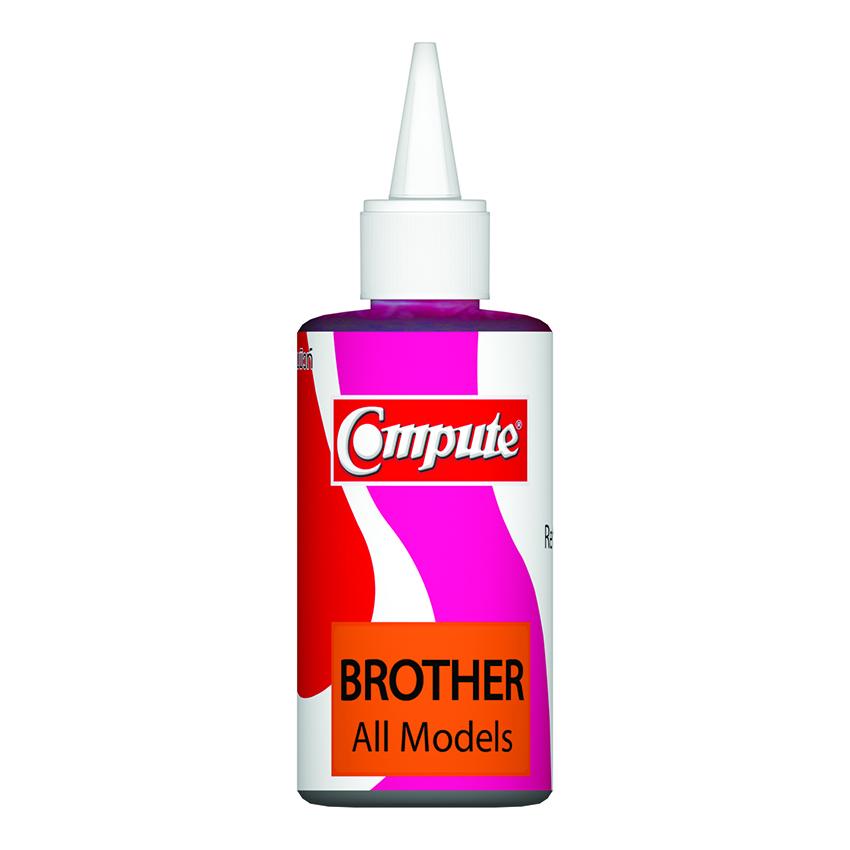 น้ำหมึกเติม (Refill Inkjet) คอมพิวท์ For BROTHER All model (Magenta)