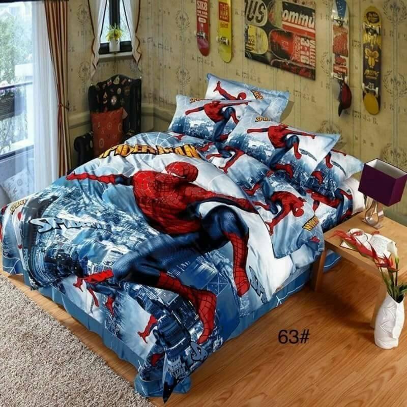 ผ้าปูที่นอน เกรดพรีเมี่ยม ลายสไปร์เดอร์แมน