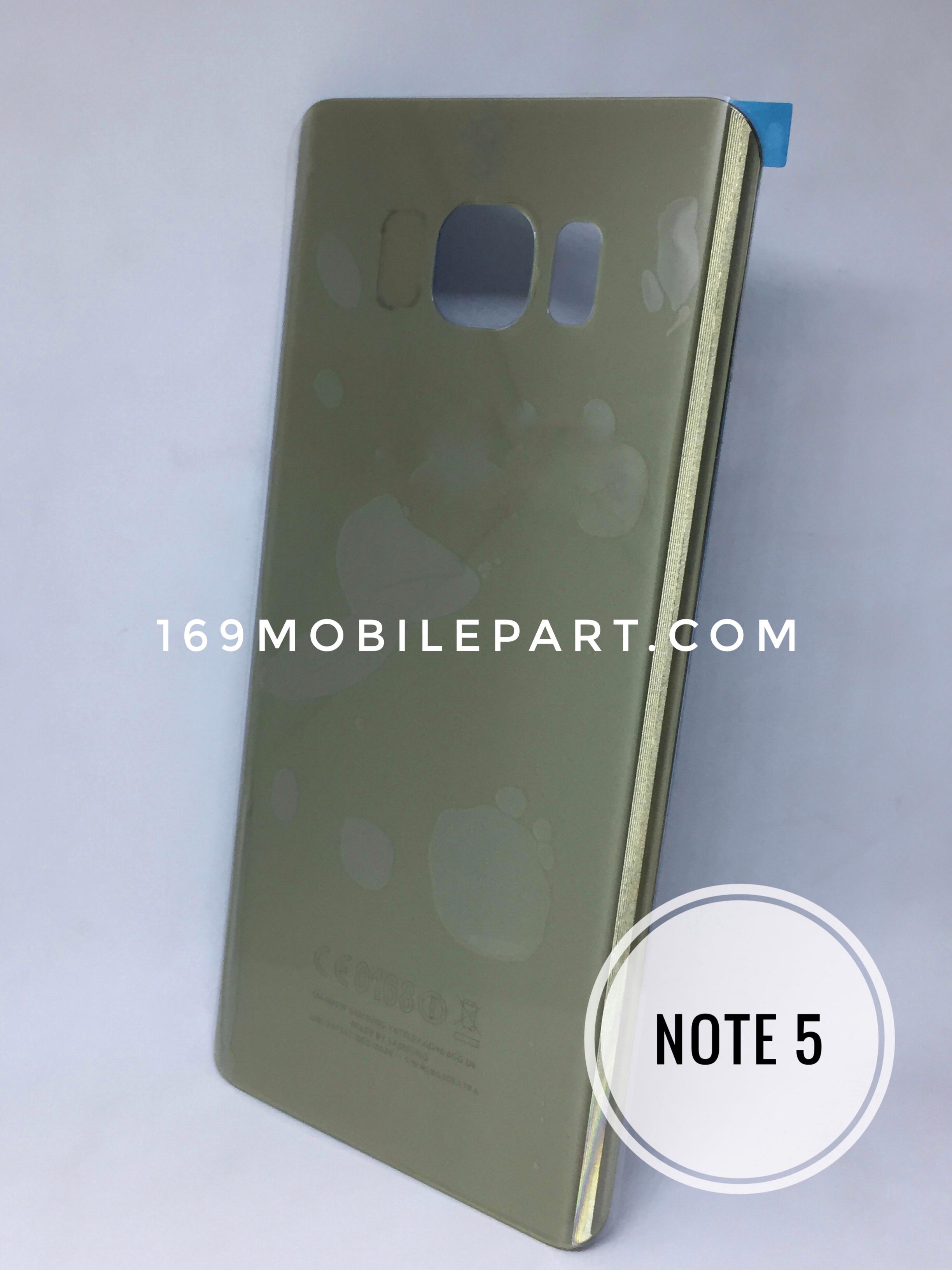 ฝาหลัง Samsung Galaxy Note 5 สีทอง(มีโลโก้นะครับ)