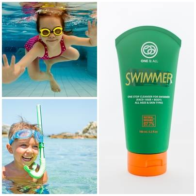 One & All Swimmer 60 ml. 3 in 1 Organic Cleanser (Hair+Face+Body)
