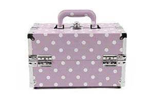 กระเป๋าเครื่องสำอาง กล่องเครื่องสำอาง สีม่วง BEAUTY SECRET D Professional Cosmetic Case