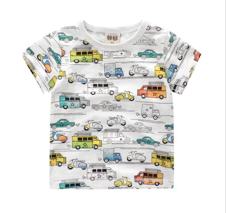 **เสื้อยืดรูป CAR size 100-140 | ขาวตามรูป | 100-140 | 5ตัว/แพ๊ค | เฉลี่ย 85/ตัว