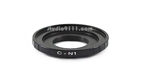 อแดปเตอร์แปลงท้ายเลนส์ C-MOUNT ใช้กับกล้อง NIKON 1