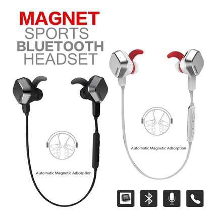 Remax Magnet Sports S2 White หูฟัง In-ear Bluetooth 4.1 ของแท้ 100% เสียงเบสแน่นมาก