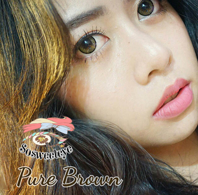 สั้น/power -250 PURE BROWN EYEBERRYLENS