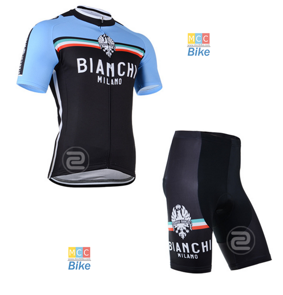 ชุดปั่นจักรยาน เสื้อปั่นจักรยาน และ กางเกงปั่นจักรยาน Bianchi ขนาด XXL