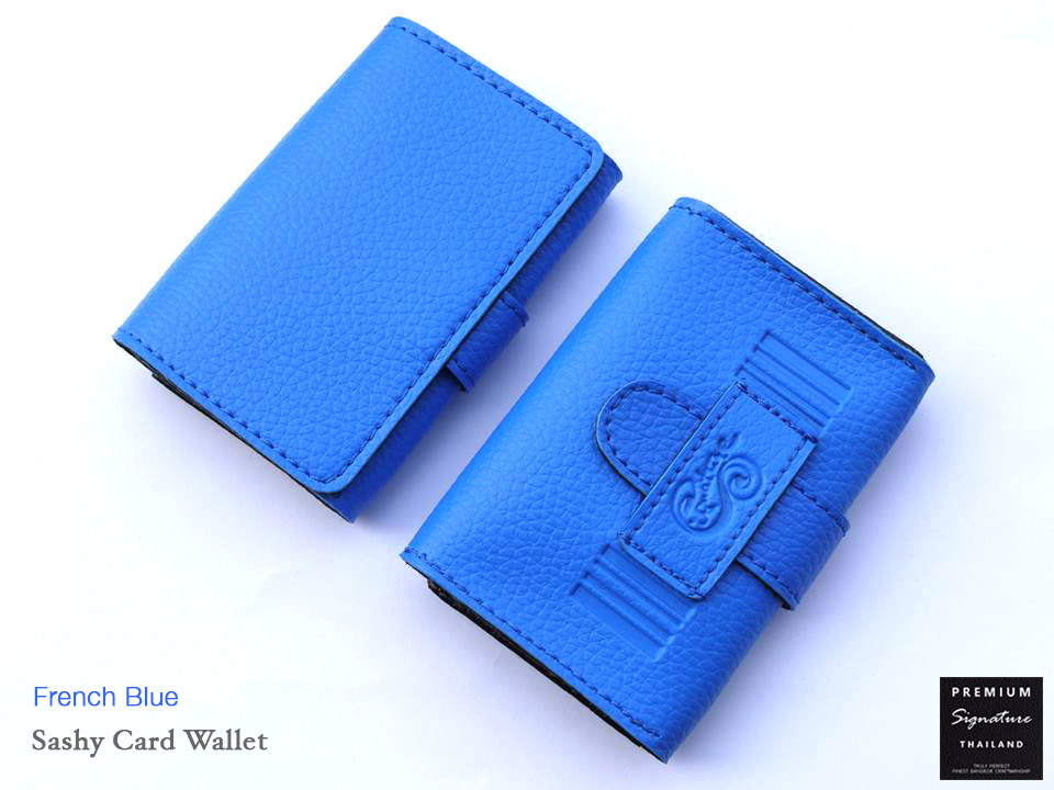 French Blue(น้ำเงิน) - Sashy Card Wallet