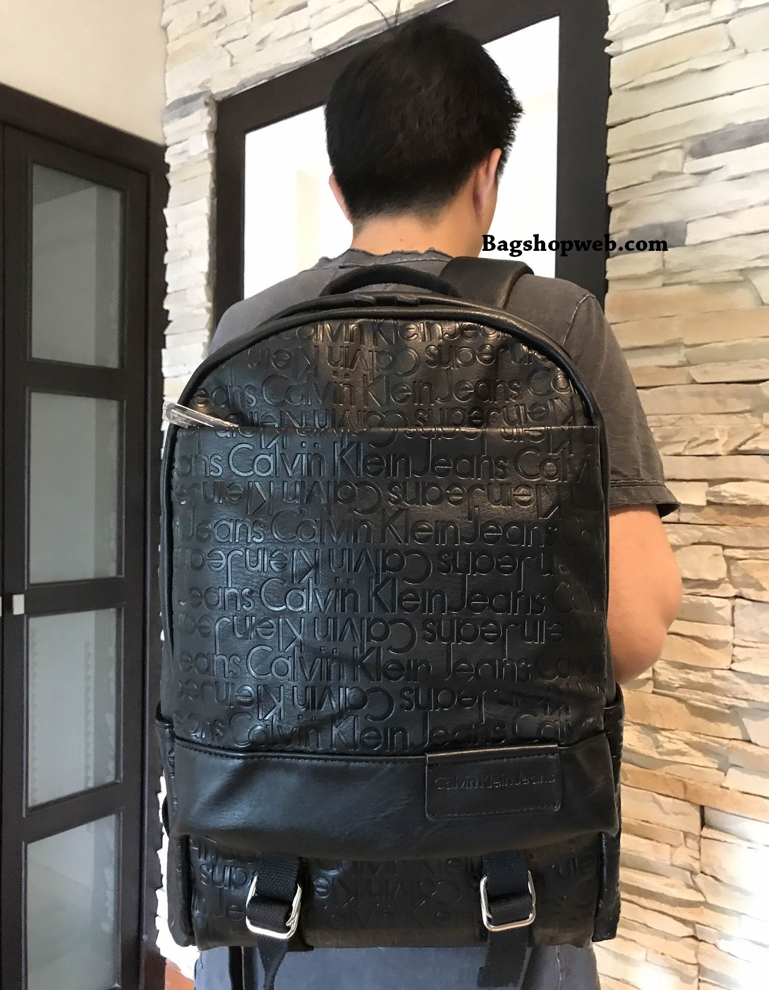 Calvin Klein Jeans Backpack (Size L) Special For Laptop 2017