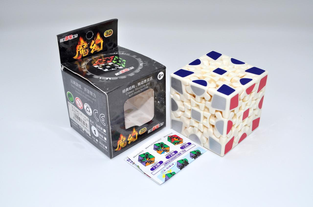 Z-Cube Gear 3x3 White Fibre Sticker